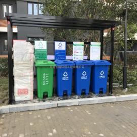 吴中雨棚式分类垃圾栏-吴中雨棚式分类垃圾提示栏