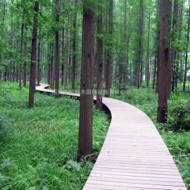 塑木厂家 木塑栈道生产 塑木地板价格找志诚塑木