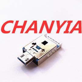 抽拉式A公USB3.0+micro公�^一�w式沉板9P�N板