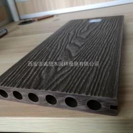 PE在线压花塑木地板 PVC共挤发泡拉毛打磨木塑地板栈道生产厂家