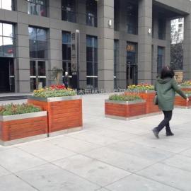 花箱厂家 新型铝合金花箱 仿木纹铝合金花箱找志诚塑木