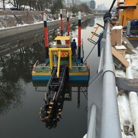疏浚吸泥船清理河dao功能齐quan 疏浚吸泥船xiaoguo理想xiao率高