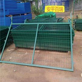 百瑞铁路金属网片防护栅栏 铁路桥下金属防护栅栏网