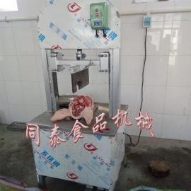 液压生猪头劈半机 家用劈猪头机