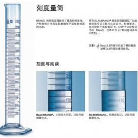 德国普兰德BRAND刻度量筒玻璃塑料量筒