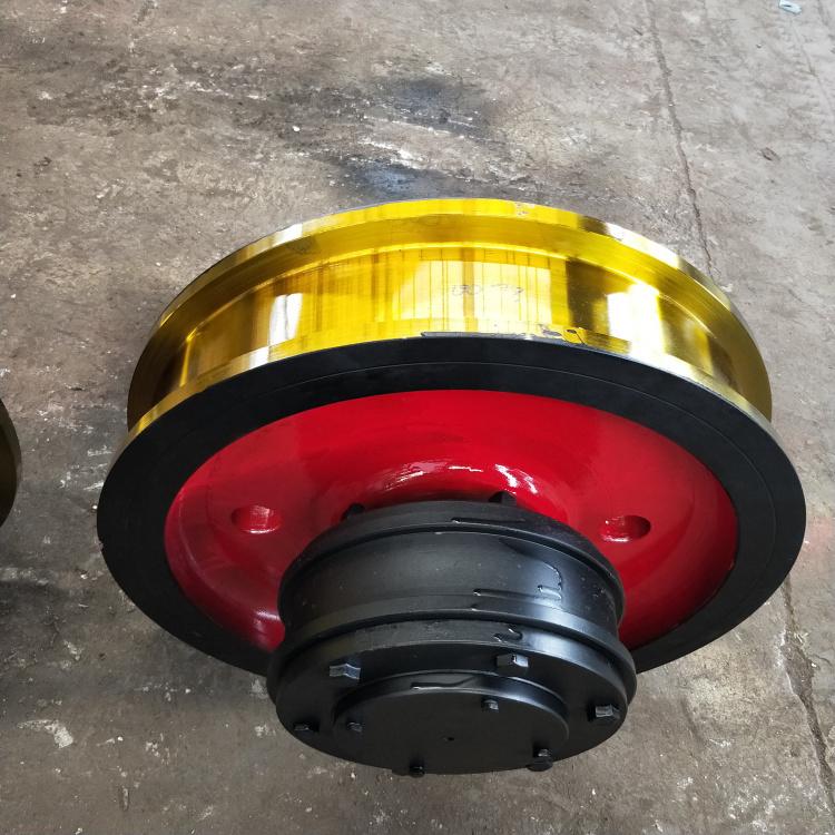 锻φ800*160双边套装车轮 卸料机锻造车轮 L771车轮组