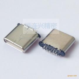 Type-c 7P 11P短体公头 超短外露6.75 立式插板 夹板0.8 针长1.0