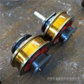 生产厂家非标定制车轮组 直径400铸钢车轮组 锻钢车轮组