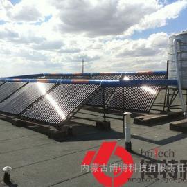 10吨太阳能集热热水工程,10吨太阳能酒店宾馆学校洗浴热水工程