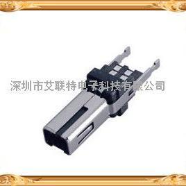 MINI USB 8P公头焊线式方型口