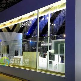 幕影水景,数字水帘是一款让展览更为突出,增添展会的色彩