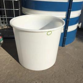 华社600L鸭蛋腌制桶滚塑养殖桶食品级塑料大圆桶牛静材质M600L