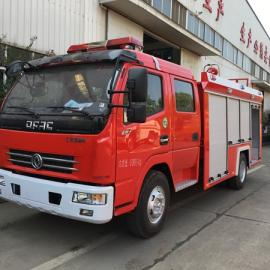 装水3吨的水罐消防车东风多利卡3�zhi裼孟�防车
