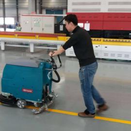 大型商场地面清洁用擦洗一体机 手推式全自动洗地机