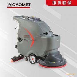 自动洗地机圆盘式平拖清洗地面脏污渍洗吸干净