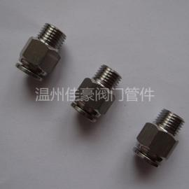 佳豪牌PC8-02 304SS不锈钢快插气动接头 气源气管快插接头