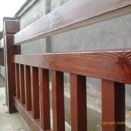 水泥仿木漆园林景观河道护栏仿木涂料