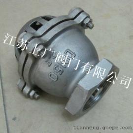 不锈钢内螺纹底阀H12W-6P