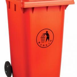 江阴240L带轮翻盖式垃圾桶-江阴240L带轮翻盖式塑料垃圾桶