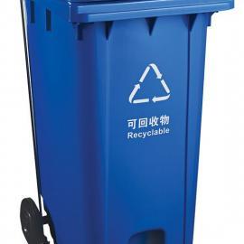 新吴240L加厚挂车塑料垃圾桶-新吴240L加厚挂车户外垃圾桶