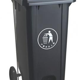 宜兴240L加厚挂车塑料垃圾桶-宜兴240L加厚挂车户外垃圾桶