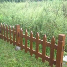 草坪护栏仿木漆