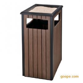 街道塑木垃圾桶 环卫塑木垃圾桶 市政塑木垃圾桶