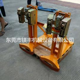 镁丰厂家直销720kg双鹰嘴油桶夹具 叉车装卸夹桶器
