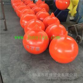 水电站水源保护塑料浮球 水库划fen警示PE浮球