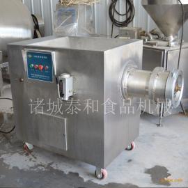 全不锈钢160型冻鱼盘冻肉盘绞肉机的产量