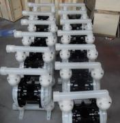 厂家QBY-65工程塑料气动隔膜泵 耐腐蚀耐酸碱泵(带自吸功能)