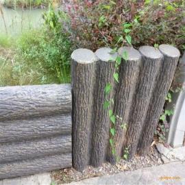 水泥树村桩仿木漆
