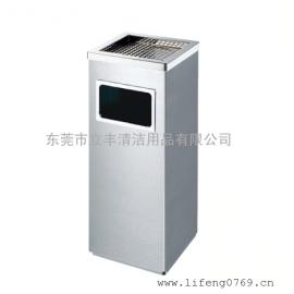 B34-B方形丽格果皮箱 厂家直销不锈钢垃圾桶 带烟灰盅垃圾桶