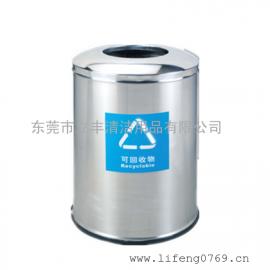 B34-P圆形砂钢垃圾桶 砂钢不锈钢垃圾桶 冲孔圆形不锈钢垃圾桶
