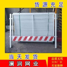 施工电梯防护门 电梯井口防护网 工地基坑临时围栏