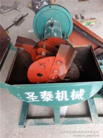 di瓜秧揉丝机生chan制造shang 中小型cao料揉搓机圣泰制造