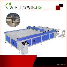 激光雕刻机可加工2000mm*4200mm亚ke力布liao激光切割加工无纺布