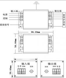 视频二合一防雷器OD-WRJ45S/2高清摄像头避雷