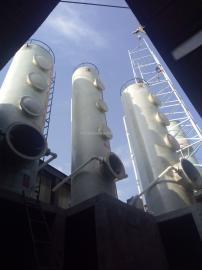 华强*生产12吨玻璃钢烟气脱硫塔