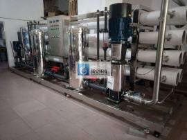15T/H电子厂超纯水设备一级反渗透加混床树脂出水电阻率10以上