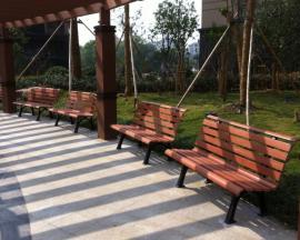 公园休闲椅批发实木防腐木座凳销售
