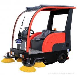 工厂扫地车,工业厂房车间灰尘电动电瓶清扫车,捷恩品牌厂家