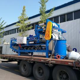 采砂场泥浆废水处理设备带式压滤机-中科贝特加工定做采购无忧