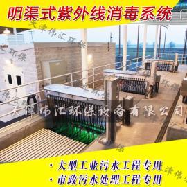 污水处理厂专用紫外线杀菌设备 污水处理臭氧消毒灯安装排架