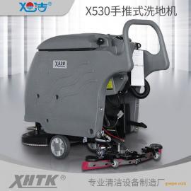 工业电线式洗地机厂家直销大型手推自走式洗地吸干机