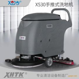 自走电机手推式电瓶洗地机用于体育馆手推电瓶式洗地机