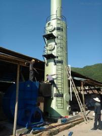 华强*生产45吨玻璃钢烟气脱硫塔