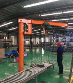 亚重2吨电动悬臂吊 360度旋转悬臂吊 车间装卸物料单臂吊独臂吊