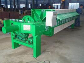 厂家直销1000型机械压紧压滤机,增强聚丙烯厢式压滤机