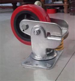 6寸减震万向轮,聚氨酯6寸减震万向轮,6寸减震万向轮厂家批发